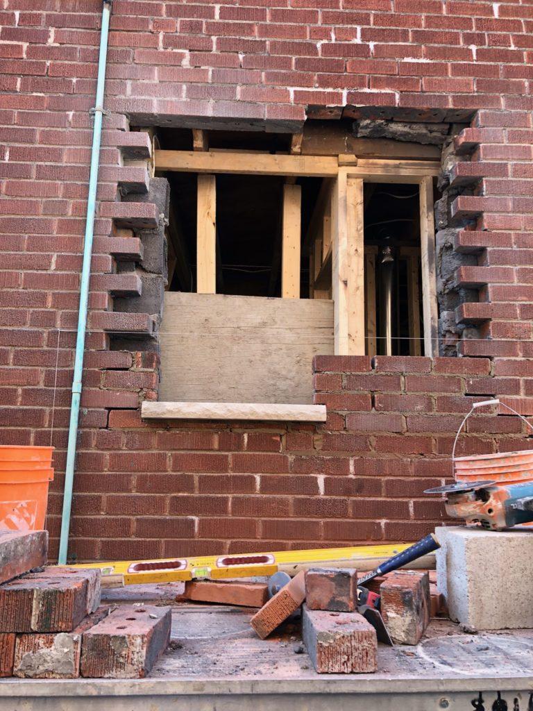 Bricking in a window
